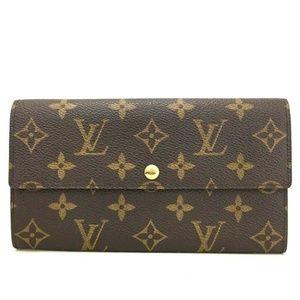 💯 Auth Louis Vuitton Portefeiulle Sarah Wallet